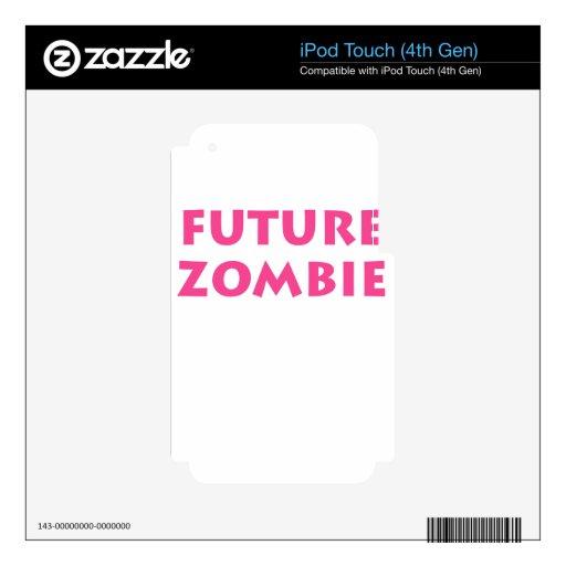 Zombi futuro calcomanías para iPod touch 4G