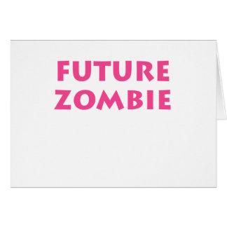 Zombi futuro tarjeta de felicitación