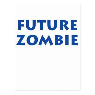 Zombi futuro tarjeta postal