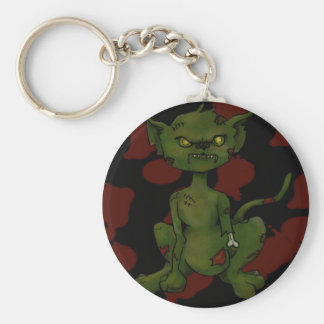 zombi-gatito llavero redondo tipo pin