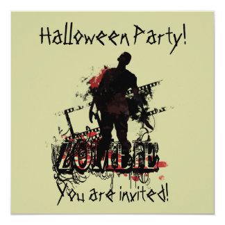 """Zombi Halloween Invitación 5.25"""" X 5.25"""""""