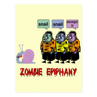 Zombi Halloween Tarjeta Postal
