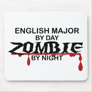 Zombi importante inglés alfombrilla de raton