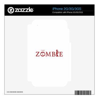 Zombi iPhone 3GS Calcomanías