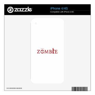 Zombi iPhone 4S Calcomanías