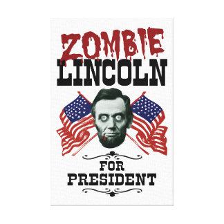 Zombi Lincoln para el presidente - triunfo anti Impresiones En Lona Estiradas
