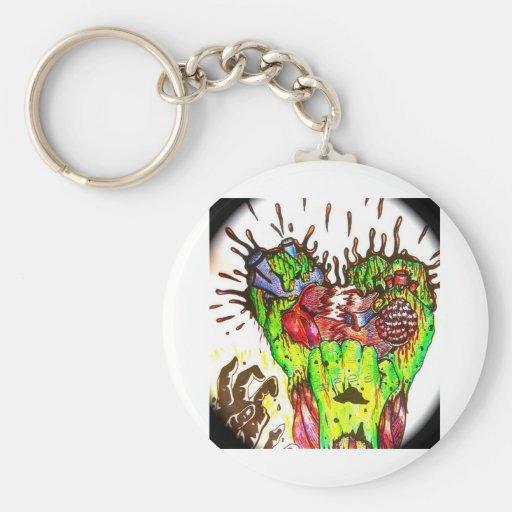 zombi llavero redondo tipo pin
