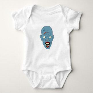 Zombi marcado con una cicatriz azul body para bebé