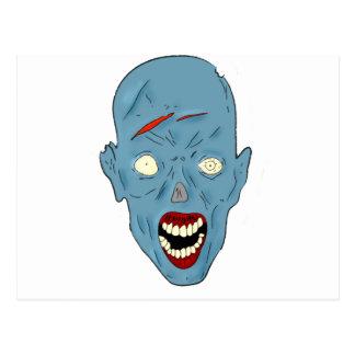 Zombi marcado con una cicatriz azul postal