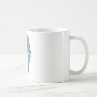 Zombi marcado con una cicatriz azul taza de café