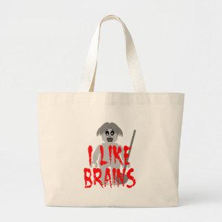 Zombi Minifig 'tengo gusto de los cerebros Bolsa Tela Grande
