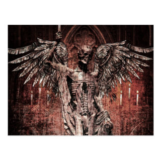 Zombi muerto del ala antigua del cráneo tarjetas postales