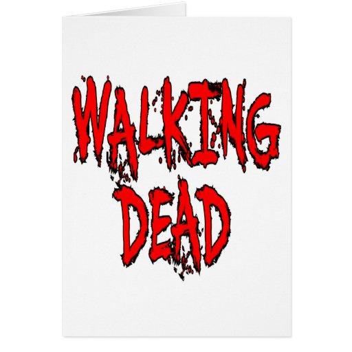 Zombi muerto tarjetas