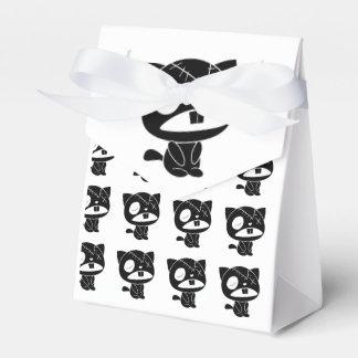 Zombi negro lindo del gato del gatito caja para regalos