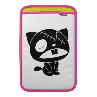 Zombi negro lindo del gato del gatito funda para macbook air