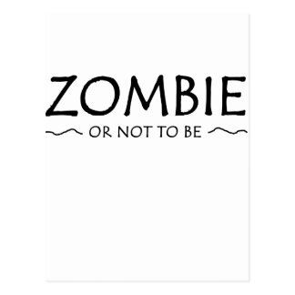 Zombi o no ser tarjetas postales