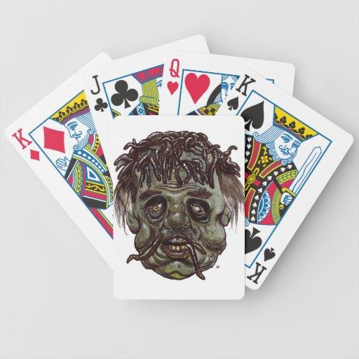 zombi principal del gusano baraja de cartas