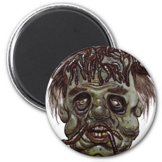 zombi principal del gusano imán redondo 5 cm