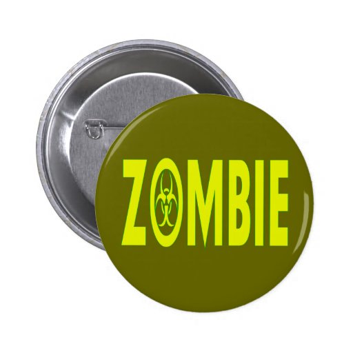 Zombi radiactivo pin redondo de 2 pulgadas