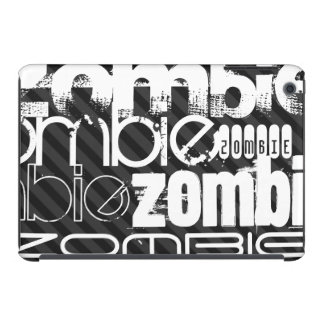Zombi; Rayas negras y gris oscuro Fundas De iPad Mini
