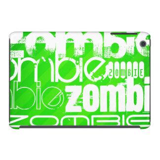 Zombi; Rayas verdes de neón Fundas De iPad Mini Retina