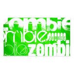 Zombi; Rayas verdes de neón Tarjetas De Visita