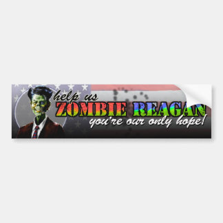 Zombi Reagan Etiqueta De Parachoque