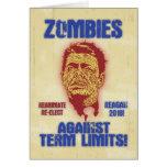 Zombi Reagan - límites de mandato Felicitacion