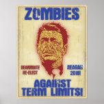 Zombi Reagan - límites de mandato Impresiones