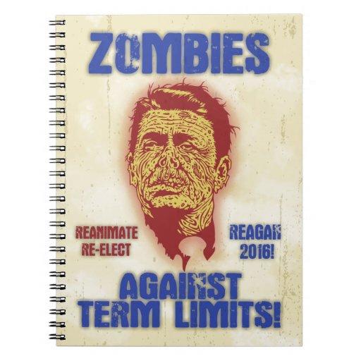 Zombi Reagan - límites de mandato Libros De Apuntes Con Espiral