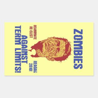 Zombi Reagan - límites de mandato Rectangular Altavoces