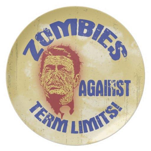 Zombi Reagan - límites de mandato Plato Para Fiesta
