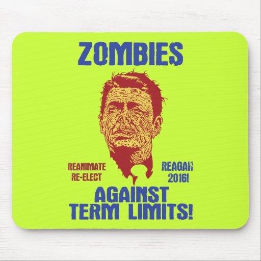 Zombi Reagan - límites de mandato Alfombrilla De Ratón