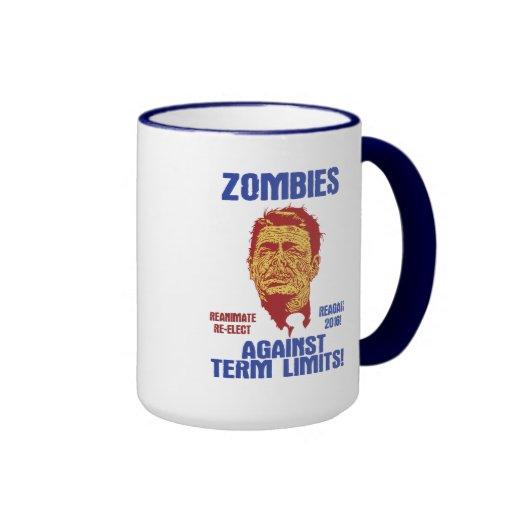 Zombi Reagan - límites de mandato Tazas De Café