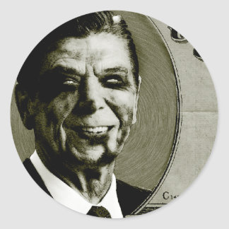 Zombi Reagan Etiqueta Redonda
