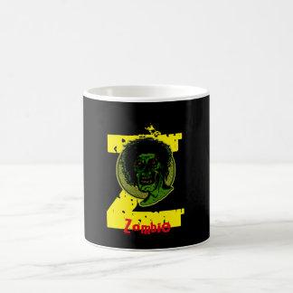 Zombi - rojo amarillo verde - Z amarillo Taza Básica Blanca