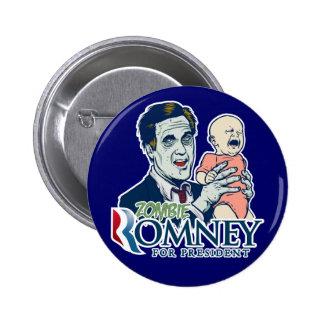 Zombi Romney para presidente Button Pin Redondo 5 Cm