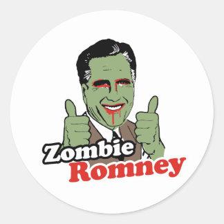 Zombi Romney Pegatina Redonda