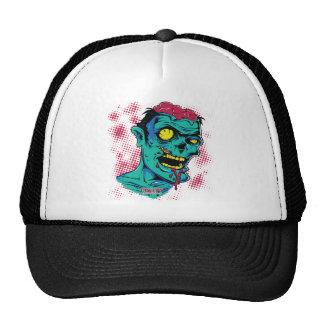 Zombi superior de la tajada gorras