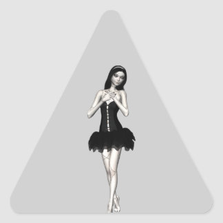 Zombi Suzy 1 - muñeca de Halloween Pegatina Triangular