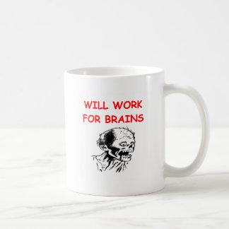 zombi taza básica blanca
