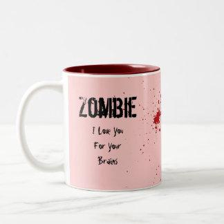 Zombi: Te amo para sus cerebros Tazas De Café