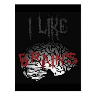 Zombi: Tengo gusto de cerebros Postales
