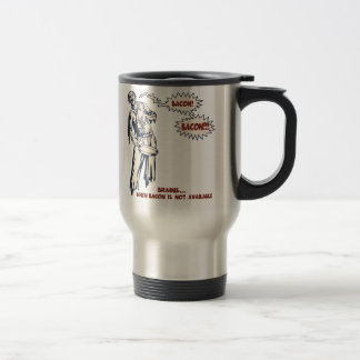Zombi - tocino taza de viaje de acero inoxidable
