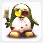 Zombi Tux (Linux Tux) Colcomanias Cuadradass