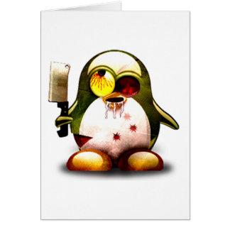 Zombi Tux (Linux Tux) Tarjeta De Felicitación