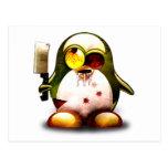 Zombi Tux (Linux Tux) Tarjeta Postal