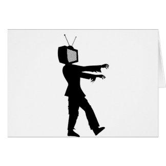 Zombi TV Tarjeta De Felicitación