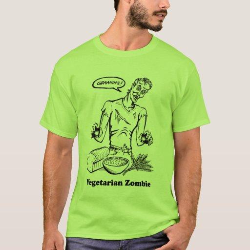 zombi vegetariano playera