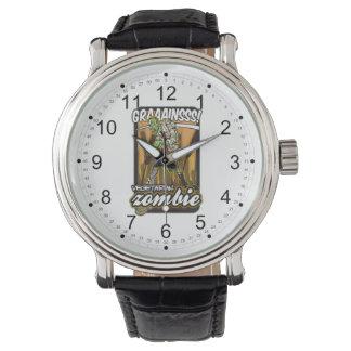 Zombi vegetariano relojes de pulsera